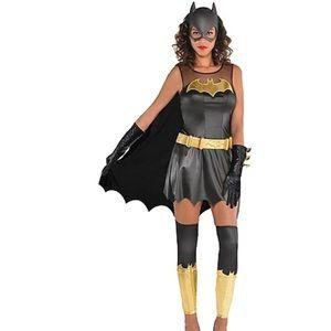 NWT DC COMICS Batgirl Black Gold Women's Costume